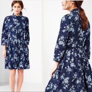 Gap Floral Denim Dress